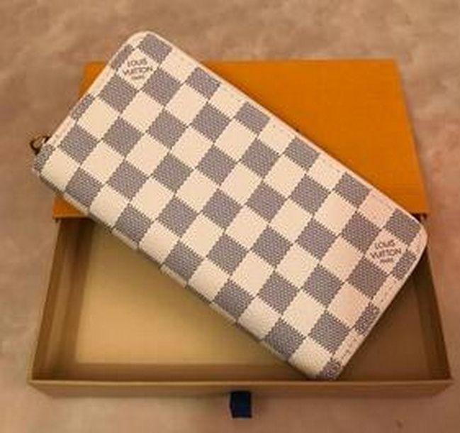Venta al por mayor 9 colores de moda cremallera única pocke diseñadores hombres mujeres señoras de cuero de señora de la carpeta larga del monedero del 0126