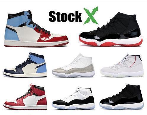 2020 Black Cat 4 4s ciment blanc Ce que les 1 1s Travis Scotts gris Hommes Chaussures de basket-Bred 11 11s Concord Hommes Sport Chaussures de sport
