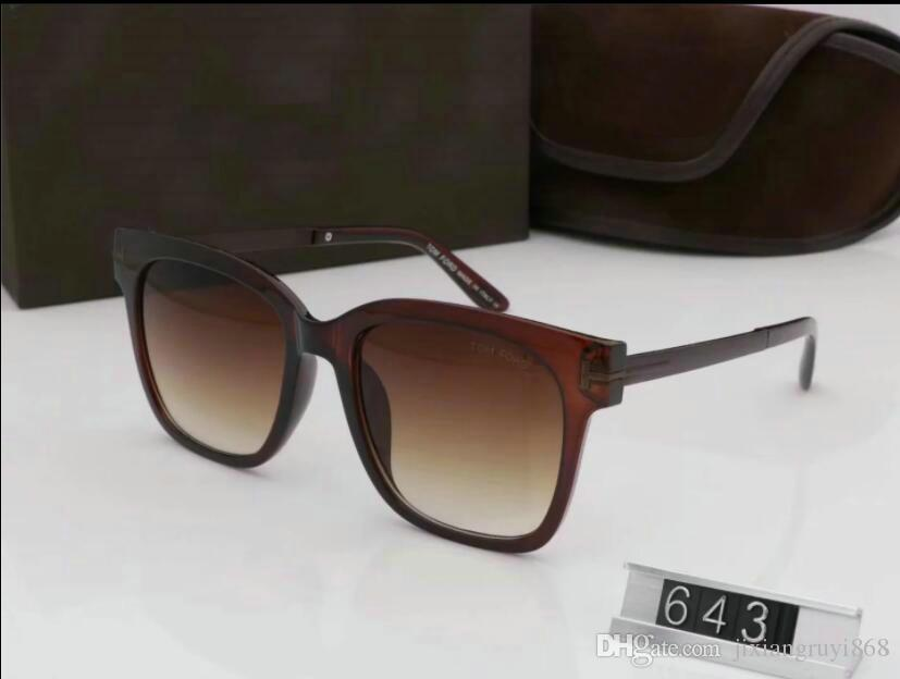 Luxe haut qualtiy Nouvelle Mode 0392 0394 Tom Lunettes de soleil pour homme femme Erika Lunettes ford Designer lunettes de soleil avec boîte originale 5178