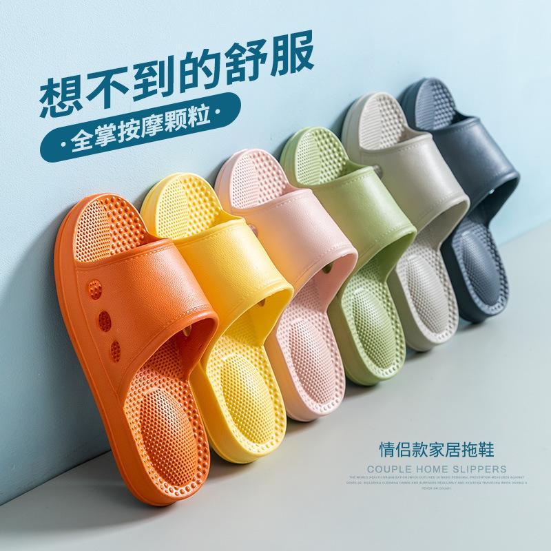 Nueva Pareja Inicio sandalias y llevar zapatillas de deslizamiento baño de zapatillas de Protección Ambiental de material de EVA ligera de las mujeres