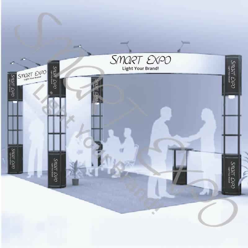 Standard 20ft * 10ft Messestand Messe-Ausstellungsstand Economic Unternehmen Messe-Display Geräte mit tragbaren Tragetaschen