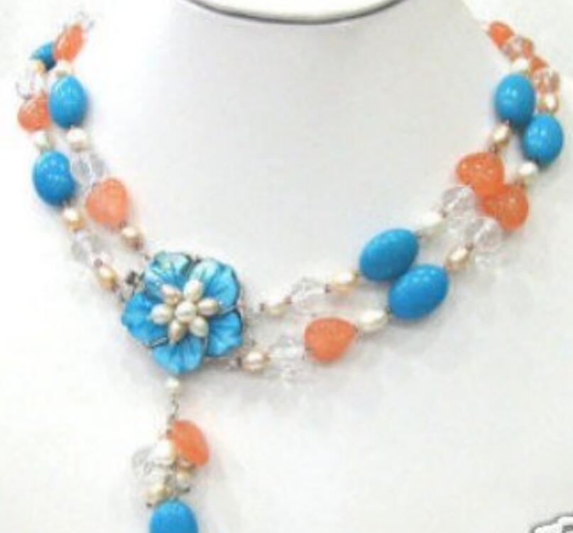 collar de artesanía Multicolors de jade collar de perlas