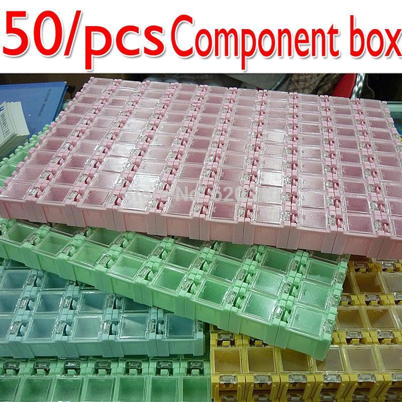 Atacado-Novo qualidade SMD SMT componentes eletrônicos Mini Caixa de armazenamento alta Genuine alta qualidade 50pcs e Jóias prática storaged caso