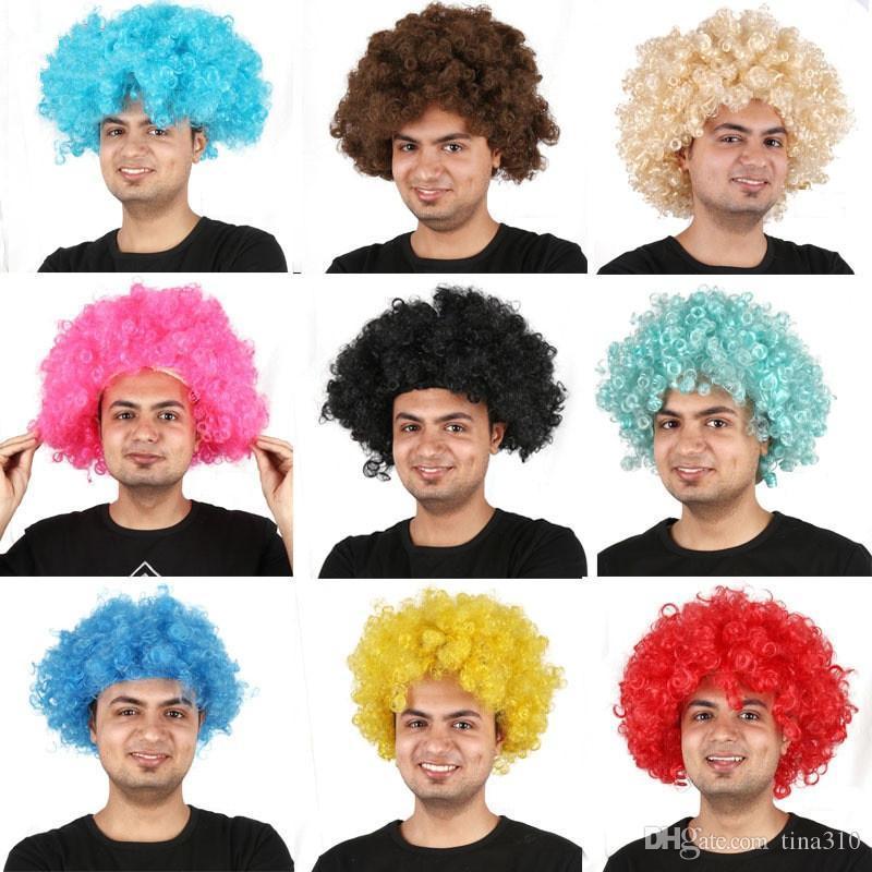 Les fans explosée tête perruque cosplay Afro Parti perruque surdimensionné perruques synthétiques pour Ball Multicolor festivaliers perruques Carnaval IC686