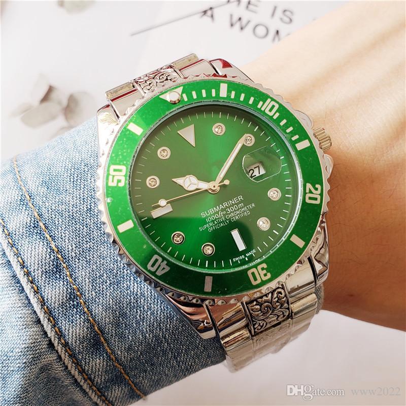 Luxus GMT Keramik-Lünette Männer Edelstahl-Quarz-Uhr-Designer Sport Herrenuhr Uhr btime