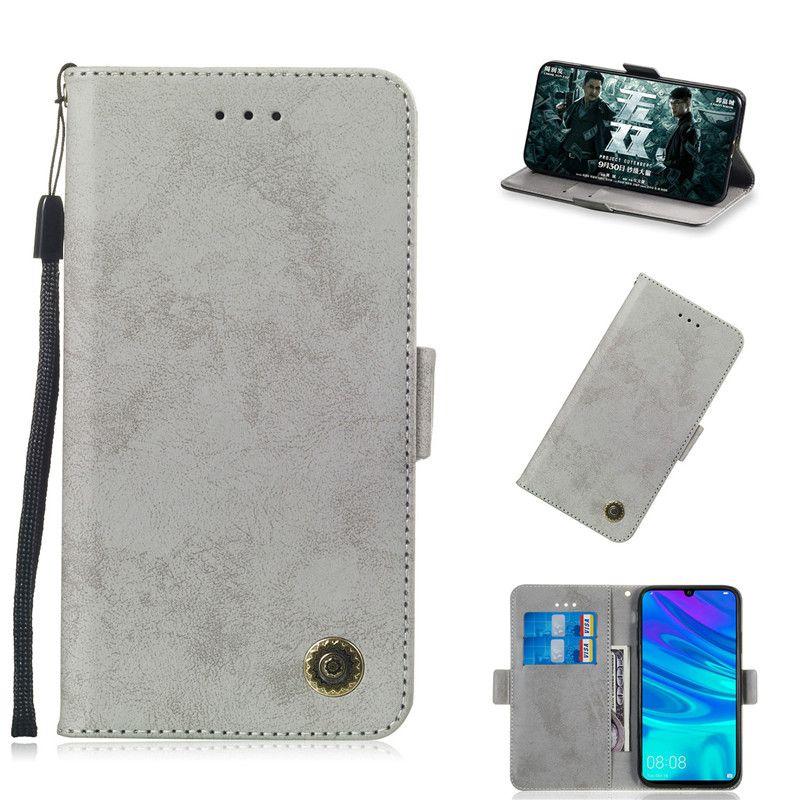 Flip Stand Para Huawei Honor 10 Lite / P SMART (2019) Caso Flip Stand Carteira de Couro Retro Tampa Do Cartão Do Saco Do Telefone Móvel slot de função