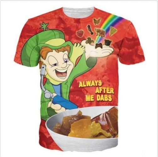 Sommer-Art-psychedelische glückliche Tupfer-T-Shirts Neueste Art- und Weisemann-Frauen 3D Charakter-T-Shirts beiläufiges T-Shirt 3D Druck-T-Shirt übersteigt DC0122