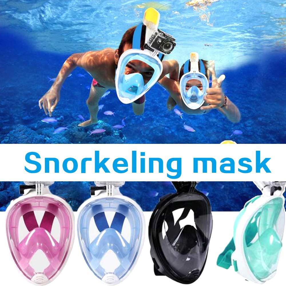 Swimming Anti-Fog Full Face Mask Diving Snorkel Scuba For GoPro S//M//L//XL