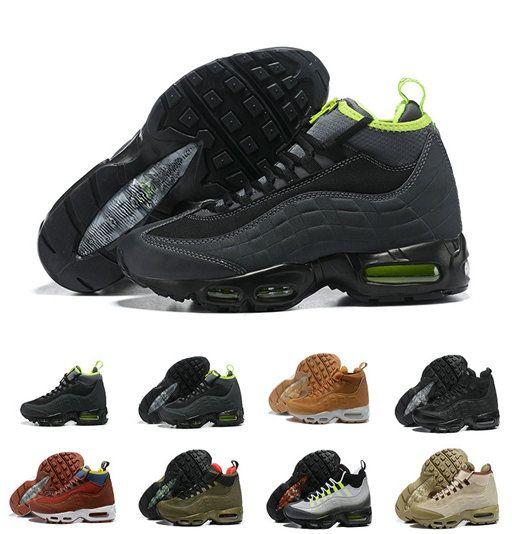 Running Shoes 95 Black Dark Loden Red