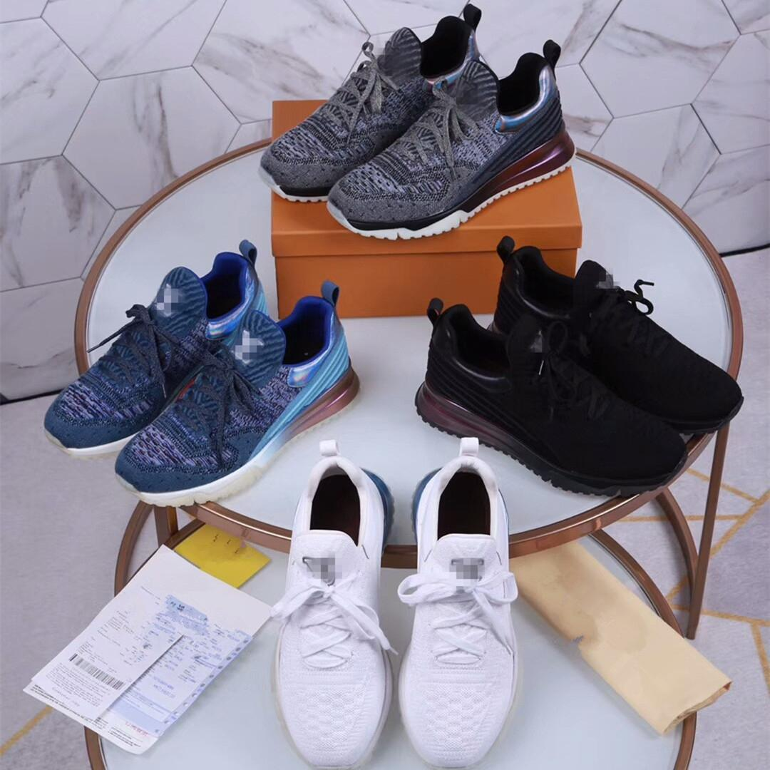 2018 Paris Designer sneakers Casual Hommes Femmes Sport Marque Runners tricot maille respirante Chaussures Daily Fashion Show Dress TecJBG #