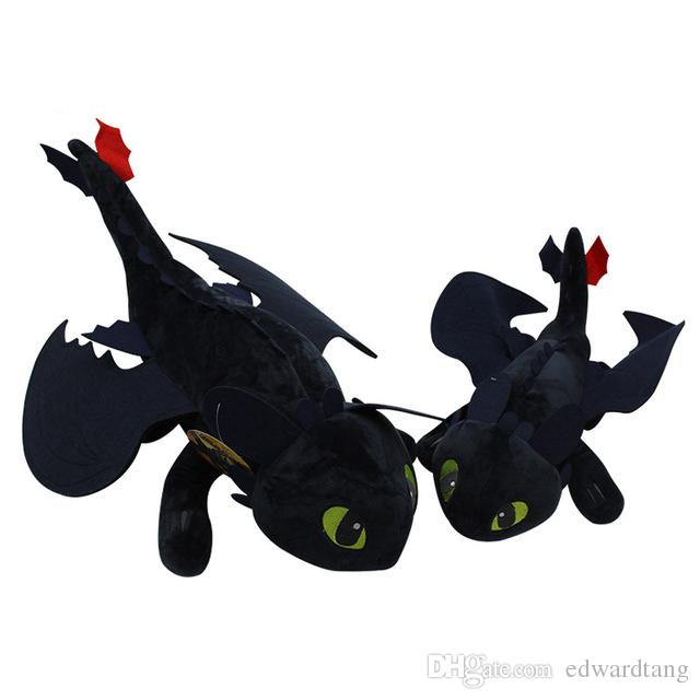 How to Train Your Dragon Toothless Plush Toys, Night Fury Dragon Stuffed Animals, for Party Kid' Birthday Gifts, Collecting, Home Decotation