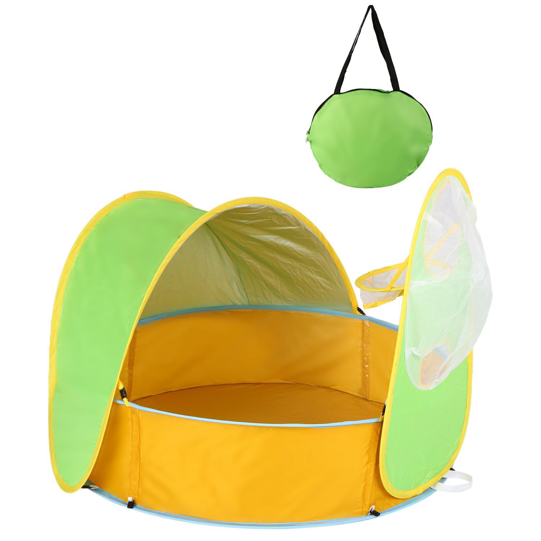 شاطئ خيمة الطفل بركة قافزة محمولة الظل بركة اللعب خيمة للأشعة فوق البنفسجية الحماية من الشمس المأوى