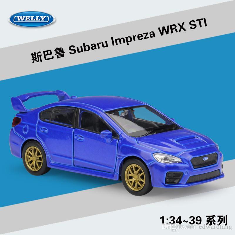 Subaru WRX STI 1//36 Scale Model Car Metal Diecast Gift Toy Vehicle Kids Blue