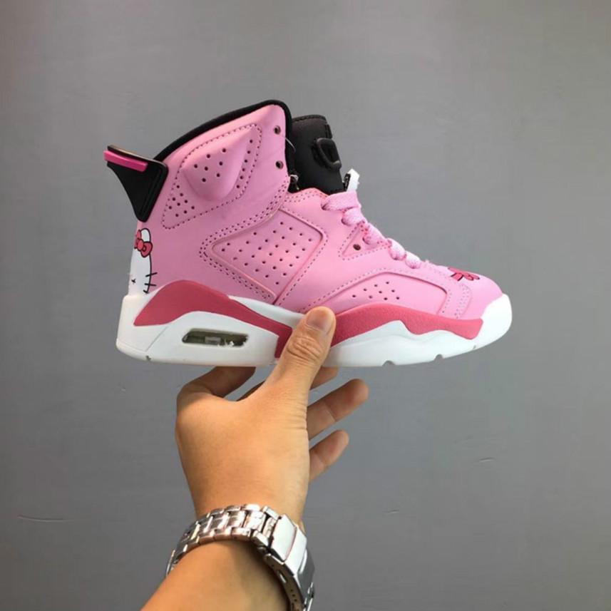 Versandkostenfrei Kinder s 6 Vi Basketball Schuhe Kinder 6 s Sport Jungen Mädchen Jugendliche Baby Outdoor Turnschuhe Größe 28-35 ejxl4