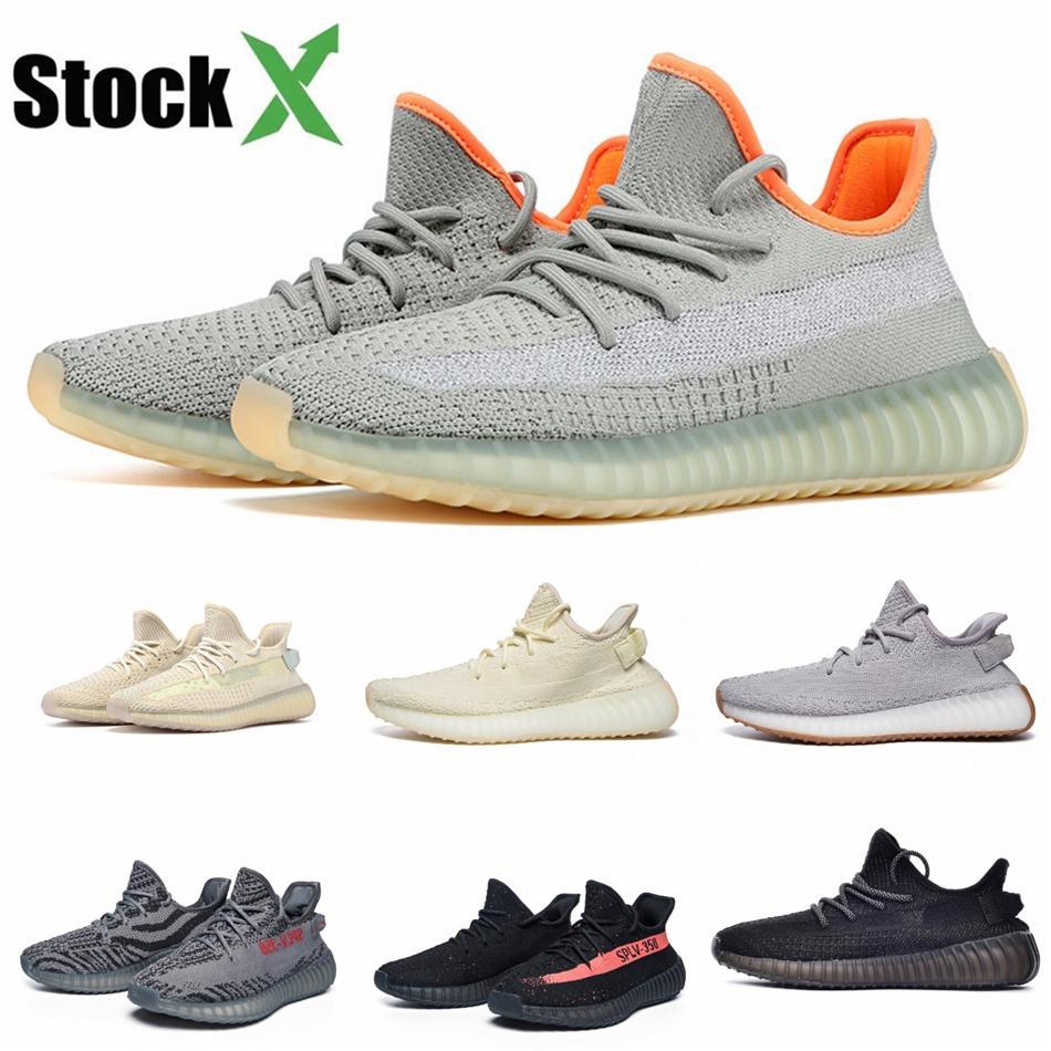 Kanye West cüruf Yansıtıcı Tasarımcı Ayakkabı s Keten Keten Yeshaya Desert Eart Formu Spor Ayakkabı Sneakers ile Kutu # QA548 Ayakkabı Koşu