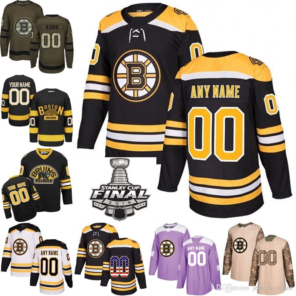 Patch pour la finale de la Coupe Stanley 2019 Hommes Femmes Juniors Boston Tuukka Rask 37 Patrice Bergeron Jake DeBrusk 73 Chandails de hockey Charlie Mcavoy cousus