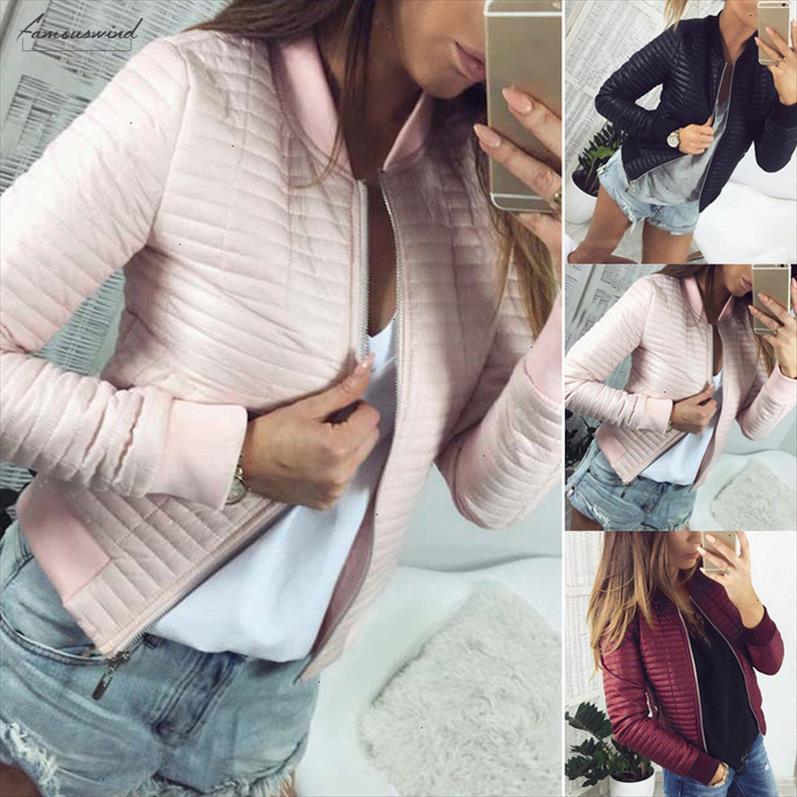 Primavera 2020 Autunno cappotto Donne No Short Sezione Outwear cotone imbottito Warm Jacket femminile casuale outwear parka sottile vestiti 8L1092