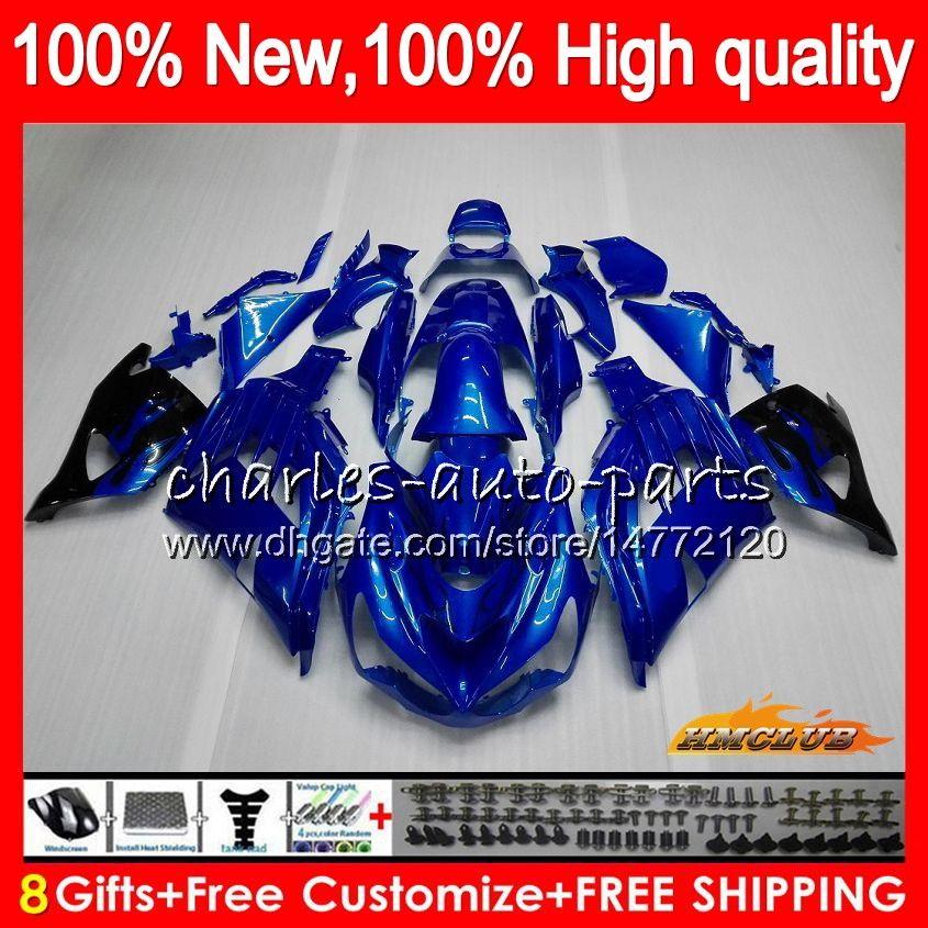 OEM inyección para Kawasaki ZZR1400 ZX 14R 2006 2007 2008 2009 2010 2011 49HC.15 ZX14R ZX14R ZZR1400 06 07 08 09 10 11 carenado azul brillante