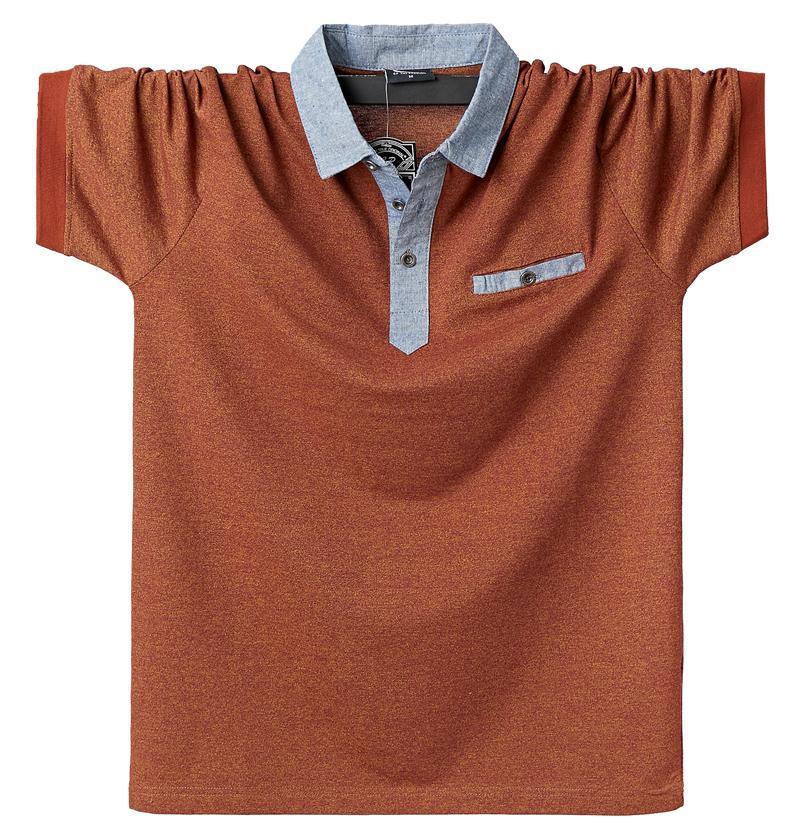 Men Polo Shirt Mens Contrast Polo Shirts Cotton Polo Shirt 6XL Plus Size Casual Classic Summer Men's Clothing Pocket Tops Tees T200528