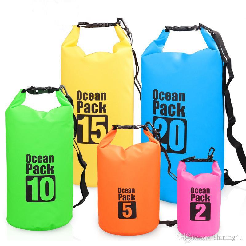 Poche sèche de vitesse tactique de PVC pour la dérive de natation sacs à dos tactiques de voyage imperméable à l'eau sac unisexe plage sacs de taille tactiques de stockage
