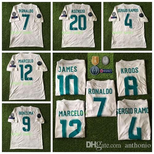2017 2018 real madrid futbol forması 17 18 Yıldız BENZEMA Modric Kroos Retro futbol forması Vintage ISCO Maillot Sergio Ramos RONALDO Camisetas