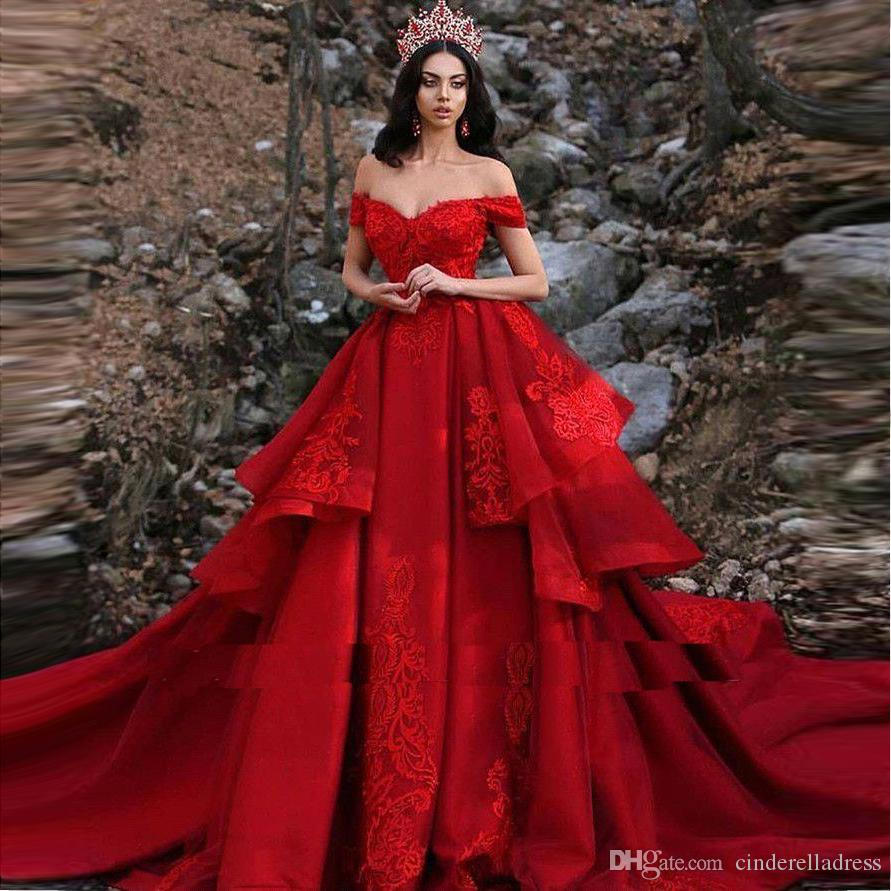 red and cream wedding dress off 18   medpharmres.com