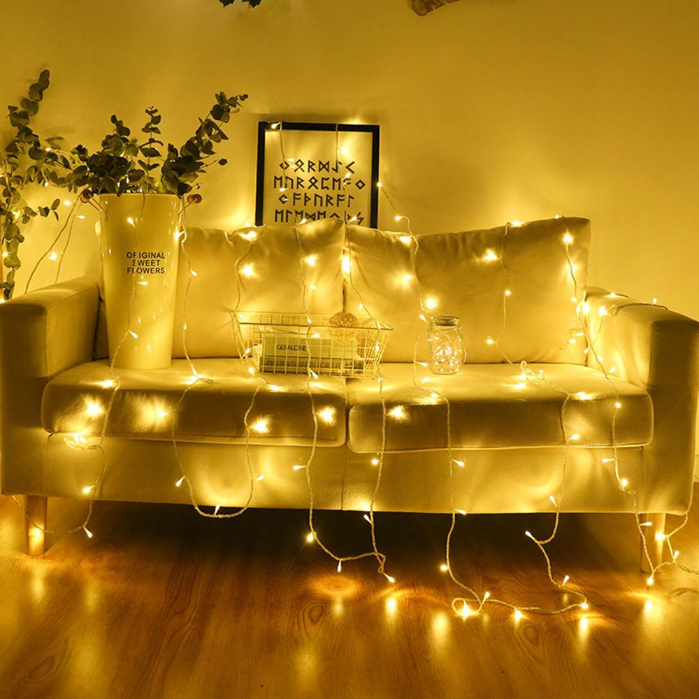4 Medidor Partido USB 40 LED luces de cadena Garland luces del gabinete dormitorio Librero decoración de la secuencia de la lámpara de iluminación de interior boda