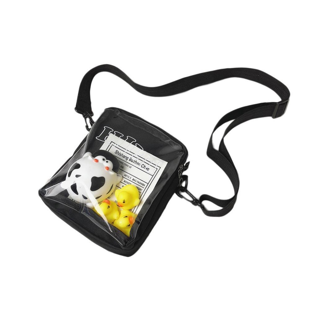 Shoulder bag fat penguin duck cartoon canvas children bag jelly Messenger bags change small square bags A1