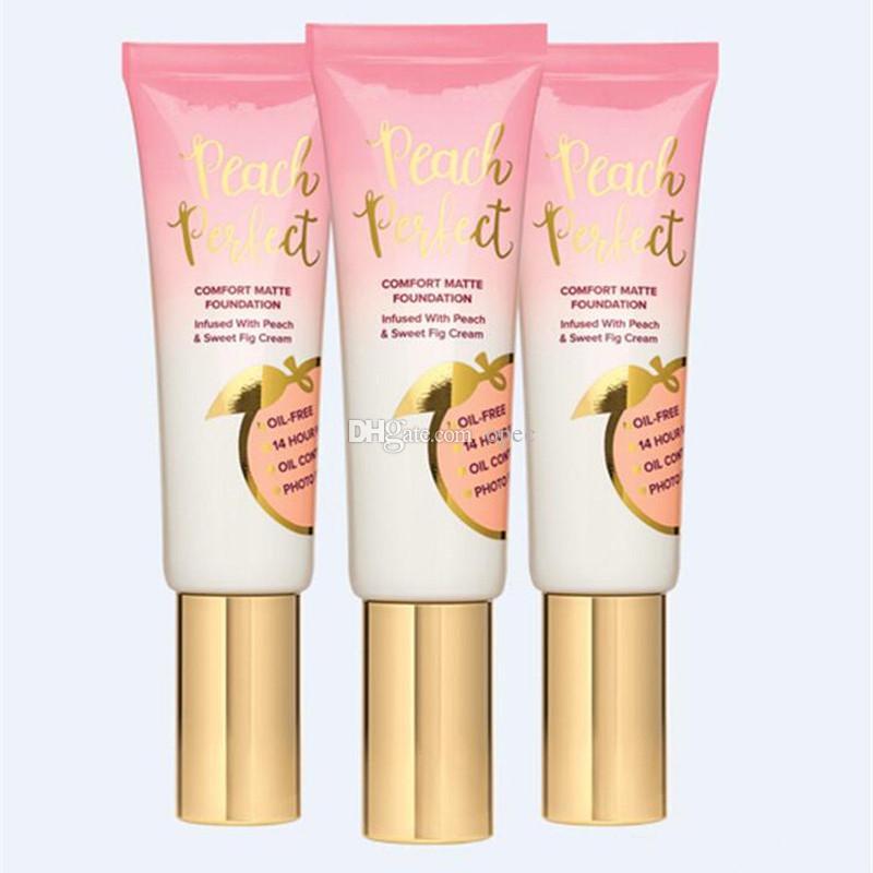 New Hot maquiagem Foundation Peach conforto perfeito fundação fosco 3colors 48ml Creme para rosto A Fundação alta qualidade DHL navio livre