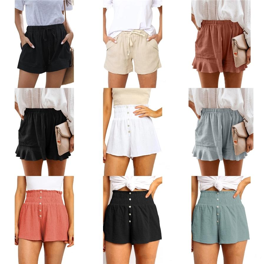 Hcxy Top Quality 2020 Estilo Verão Mulheres Womens Comércio Casual Tide Masculino Cotton Praia Roupa Shorts Y200511 # 444