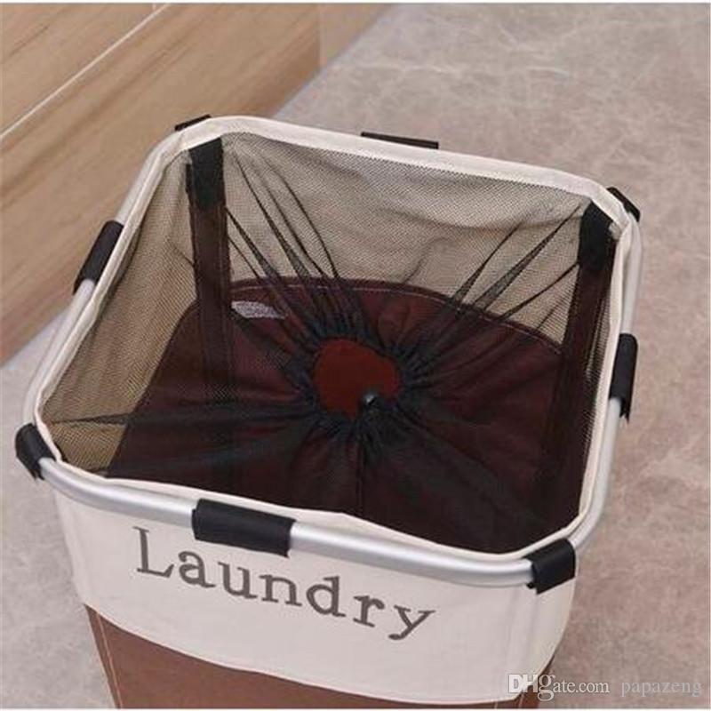 2020 2018 Portable Single Lattice Laundry Basket Brown And White Storage Baskets Home Storage Organization Laundry Basket From Qiansuning66 102 54 Dhgate Com