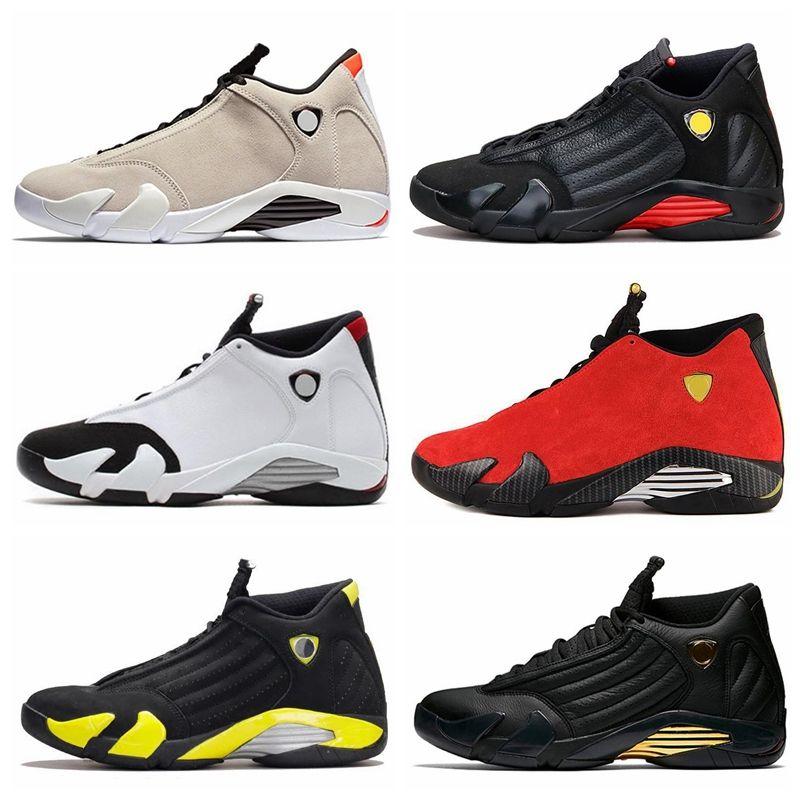 Nike Air jordan 14 Retro AJ AJ14 Großhandel 14 XIV BRED LAST SHOT DESERT SAND Männer Basketball Schuhe Trainer Sport Turnschuhe Frauen Outdoor hohe Qualität Größe 36-47