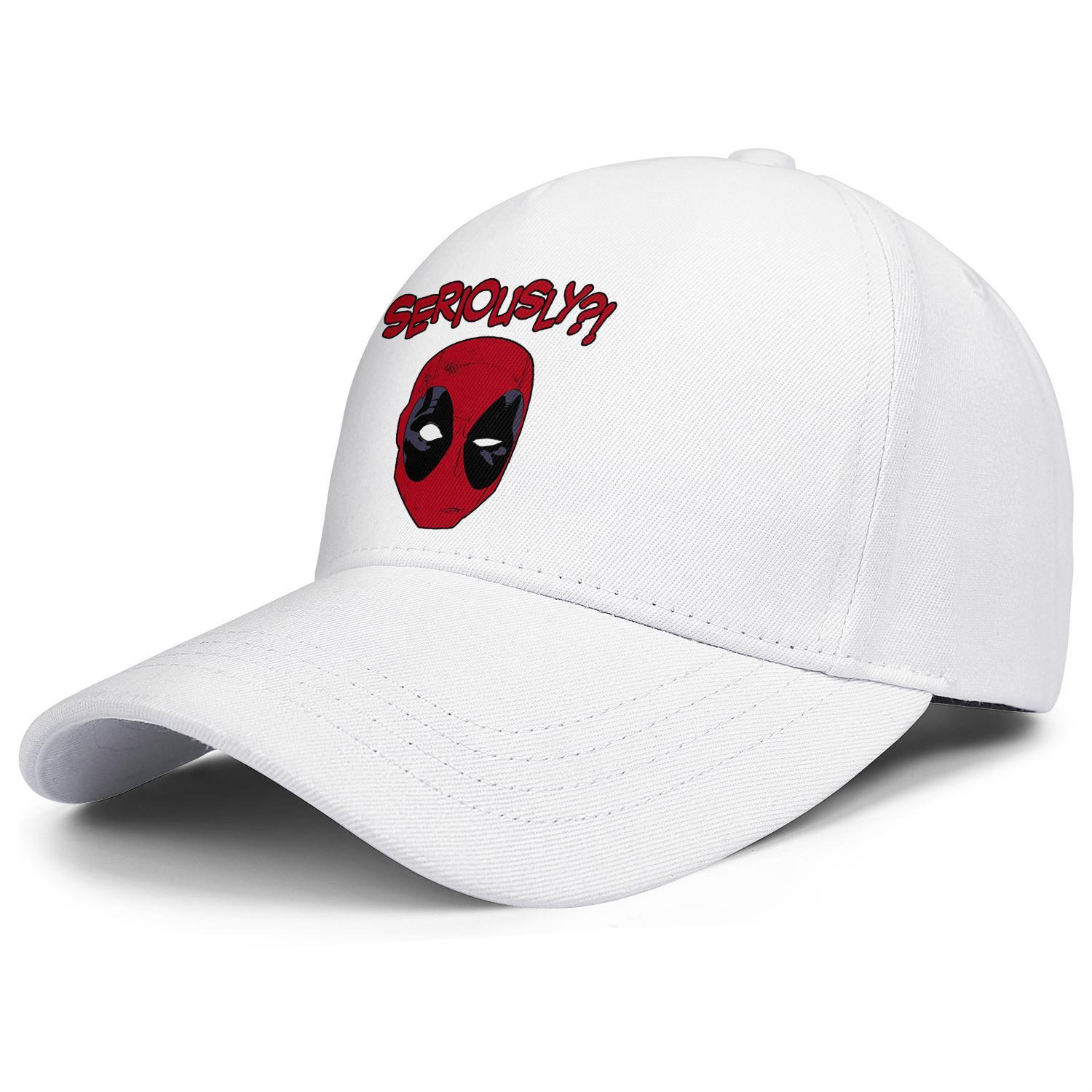 Deadpool head seriously Marvel movie black Men Women ball cap adjustable baseball caps fitted slouchy Six Panel cap