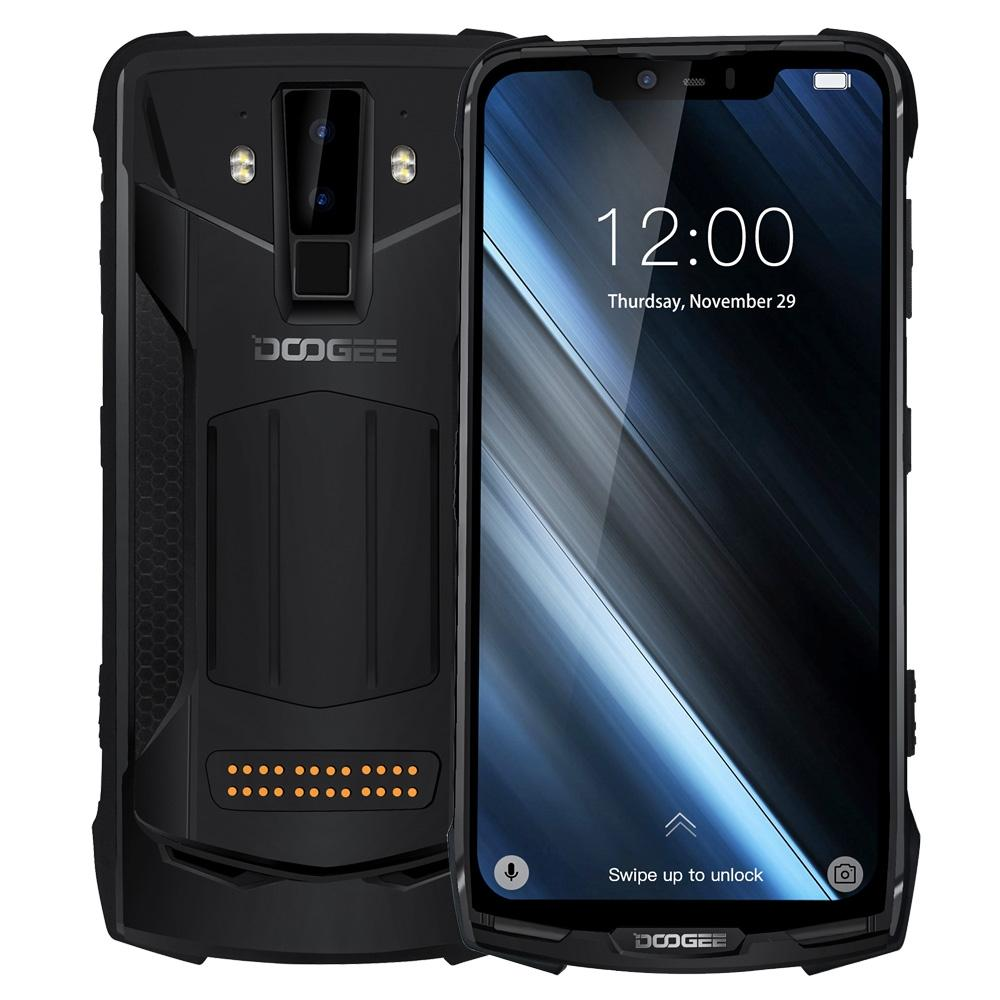 "DOOGEE S90C IP68/IP69K Rugged Phone Android 9.0 Helio P70 Octa-Core 4GB RAM 64GB ROM 6.18"" FHD+ Display 16MP Dual Cams 5050mA"