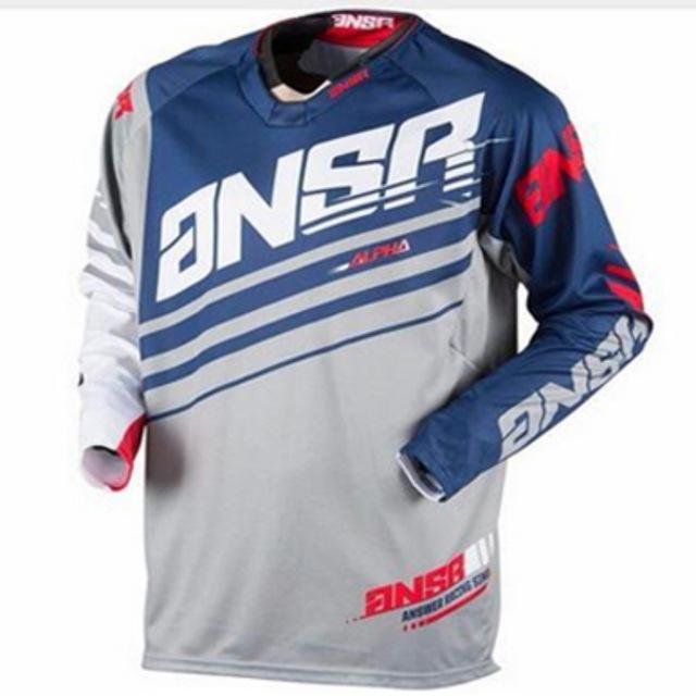 2019 длинный рукав Moto Джерси DH MX BMX Горный велосипед Мото Трикотажные / Motocross ATV Cross Country гонки Moto дышащий Мужская рубашка