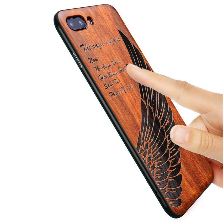 2018 New Huawei Honor View 10 Case Slim Wood Back Cover TPU Bumper Case For Huawei Honor V10 Phone Cases Honor 10