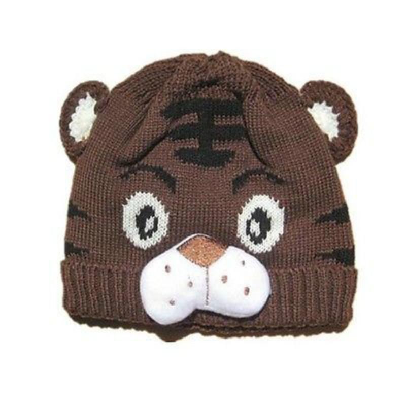 Autumn Winter 1pcs Baby Girls Boys Kids Toddlers Crochet Knit Cute Tiger Hat Beanies