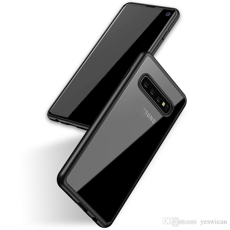 iPaky Case For Samsung Galaxy S10 Plus S10+ S10e Transparent Back Cover PC+TPU Drop-proof Hard Soft Cases With Retail Package In Stock