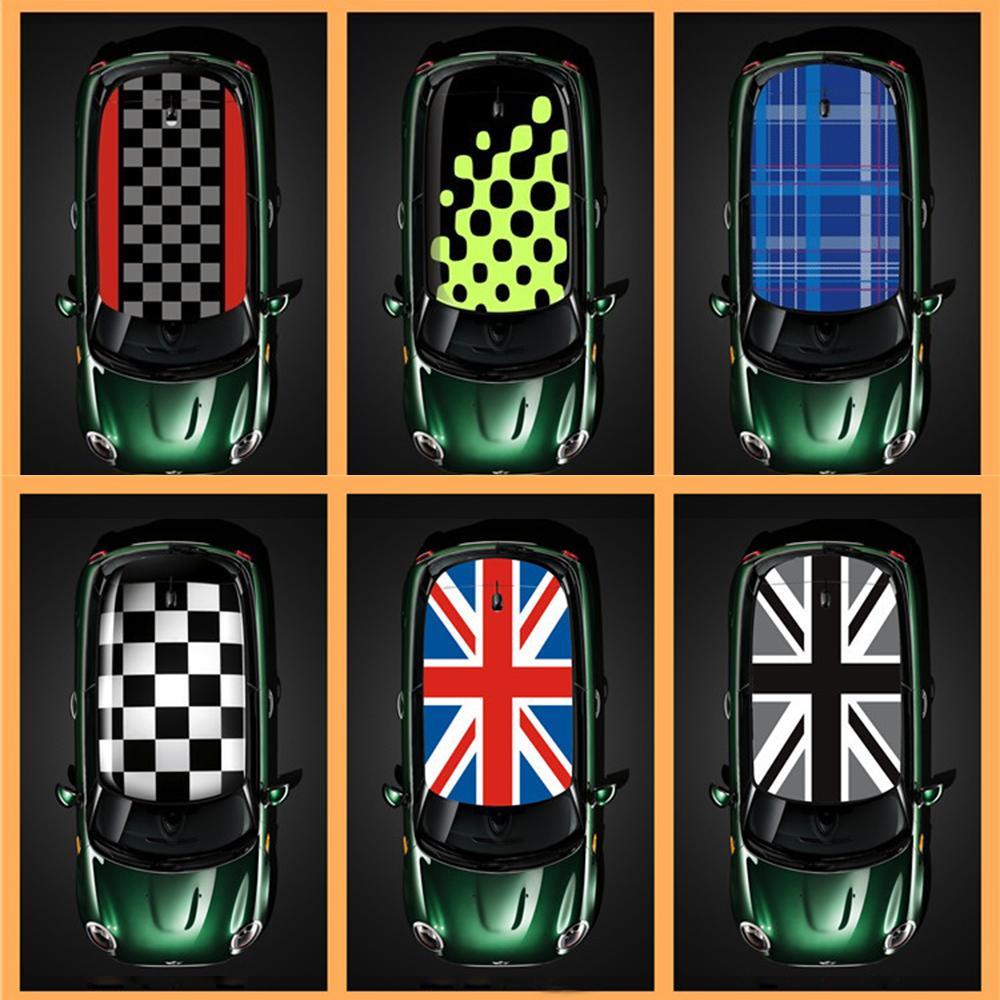 1pcs Union Jack Car KK Full Roof Sticker Auto Roof Trim Decals Decoration Refit For MINI Cooper S One d JCW F56 Car Accessories