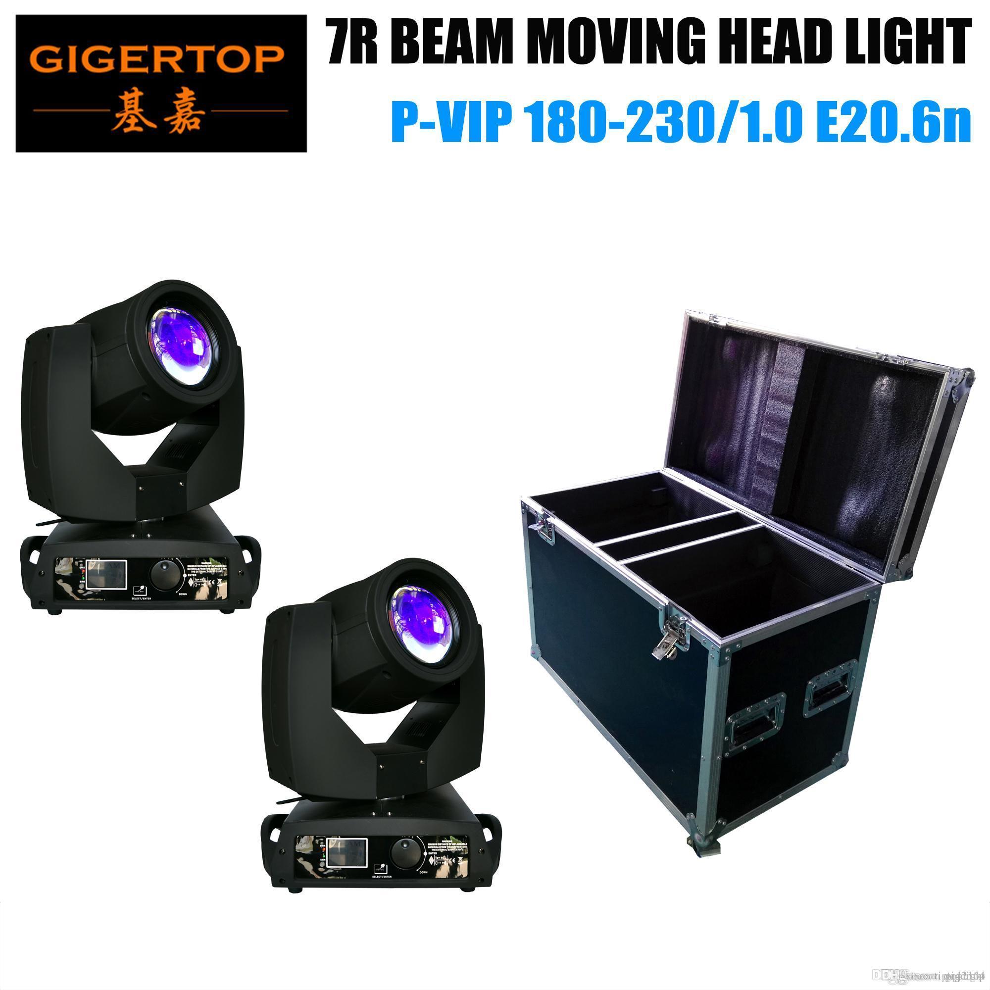 Flight Case 2IN1 Verpackung mit 2XLOT 230W 7R Sharpy Strahl-bewegliches Hauptlicht / Disco Studio Theater Stage Moving Heads 16 Prism