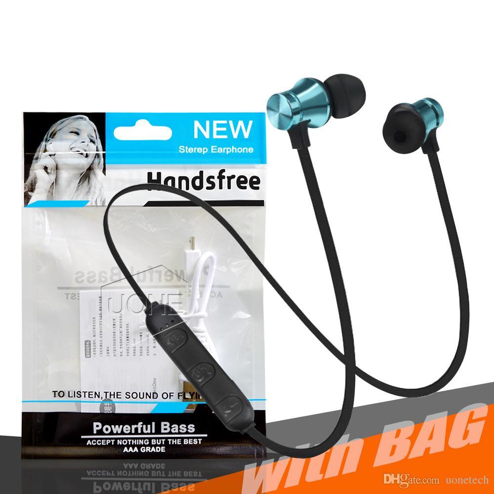 XT11 Kablosuz Bluetooth kulaklık Spor Koşu Manyetik kulaklık kulaklık kulakiçi BT 4.1 Stereo MIc ile iphone Samsung Için OPP Paketi