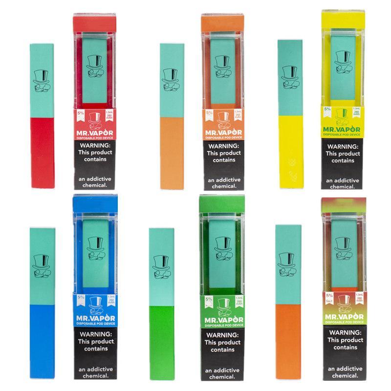 MR VAPOR Einweg vape pen 1,3 ml pre pod System 400 Puffs pro Gerät gefüllt