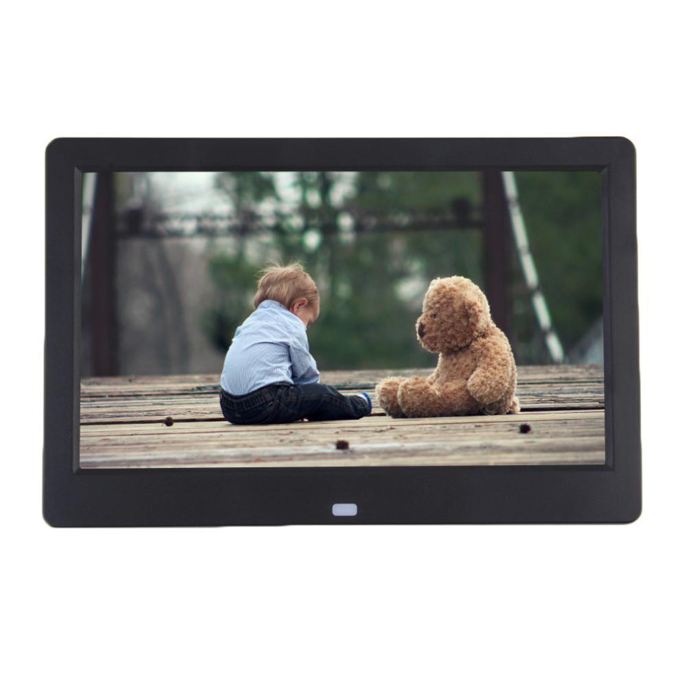 Süper İnce 10.1 10 inç TFT LCD dijital fotoğraf çerçevesi Albüm MP4 film oynatıcı çalar saat 16: 9 1024 * 600 JPEG / JPG / BMP MMC / MS / SD MPEG AVI Xvid