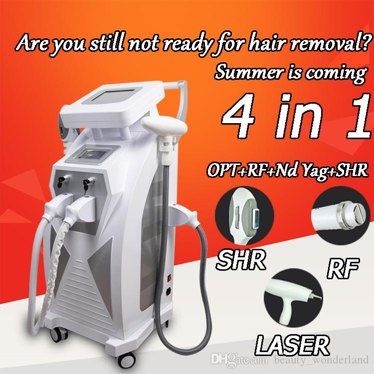 SHR الشعر IPL لإزالة 1320nm 1064 نانومتر 532NM الثانية ياج ليزر إزالة الوشم الشعيرات آلة تجديد الجلد آلة SHR الشعيرات