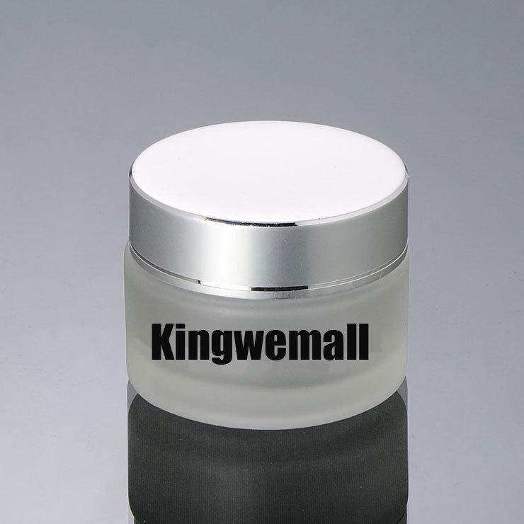 Freies Verschiffen 300pcs / lot der Kapazität 50g 50ml Mattglas Sahneglas kosmetisches Verpacken EY10