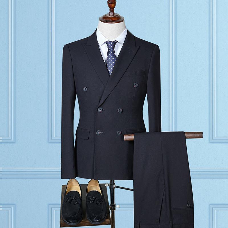 ternos homens dos homens cavalheiro magro trespassado blazer terno de 3 com calças colete desgaste ocasional formal do negócio negócio dos homens
