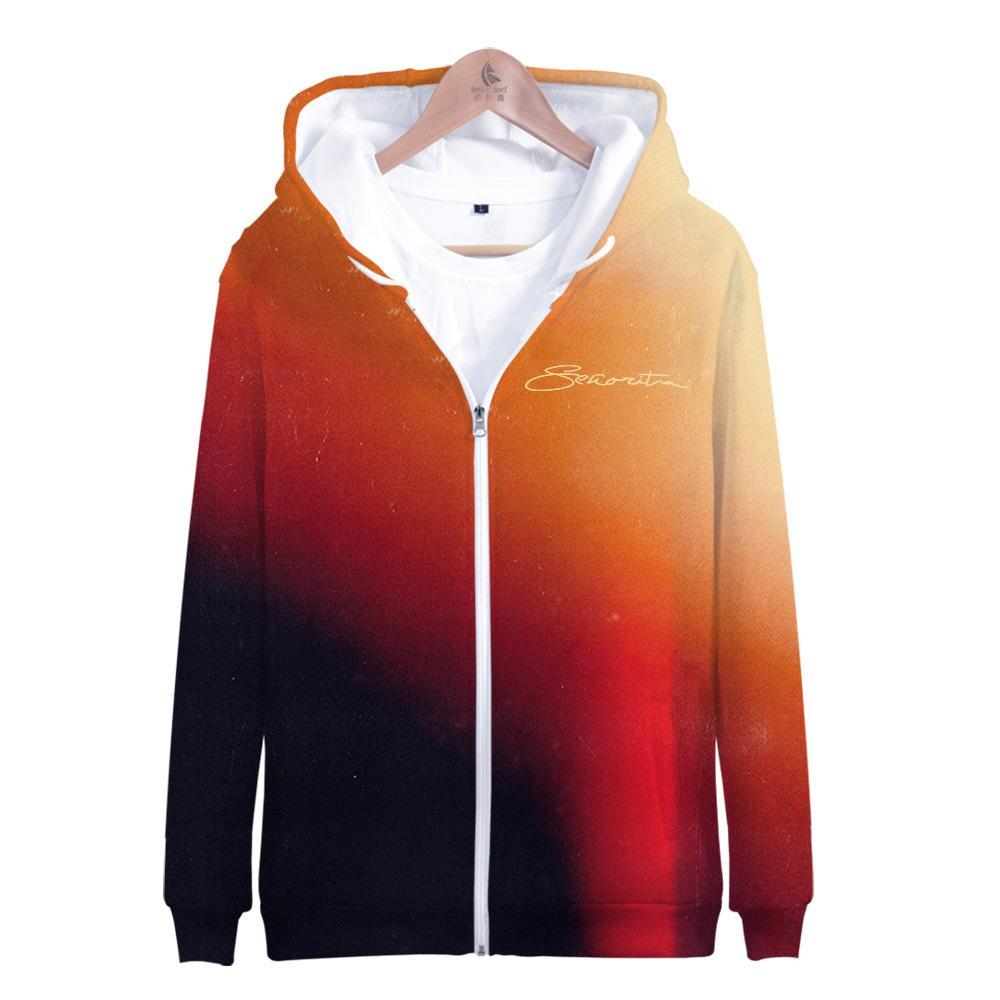 Мода Harajuku 3D Kpop балахон Шон Мендес 3D молнии толстовки мужчин / Womn / Дети Прохладный пуловеры Шон Мендес вскользь фуфайки