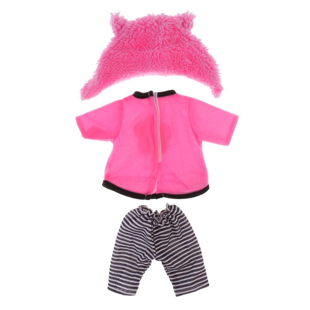 Fashion Doll Clothes Floral Dress with Underpants for 16inch Salon Doll Pink