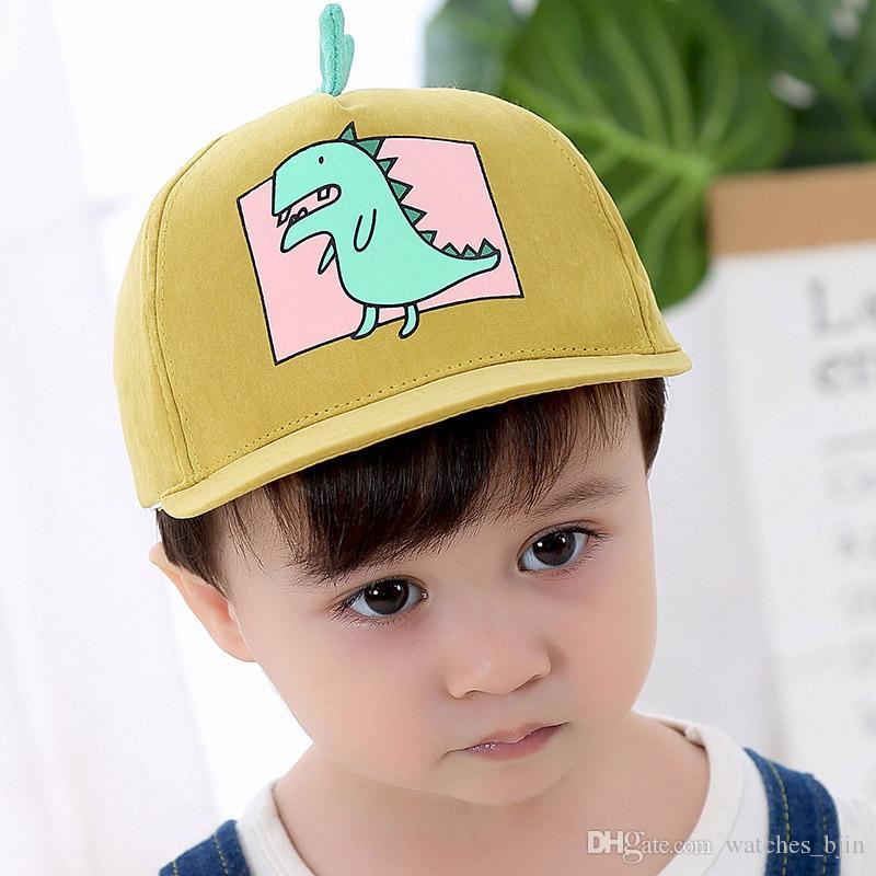 Summer Child Dinosaur Baseball Cap Adjustable Boy Girl Snapback Hat  Hot