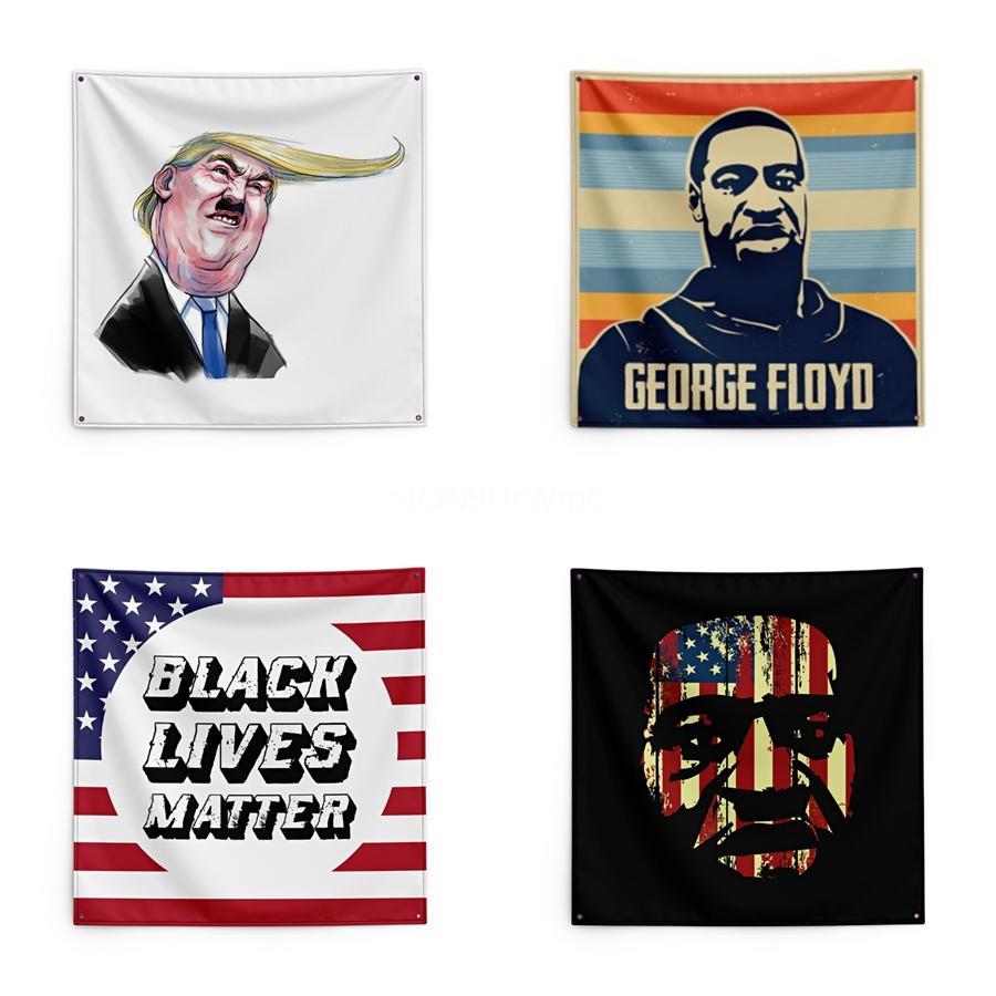 Fight For George Floyd печати Гобелен Black Lives Материи 150 * 150см Гобелен # QA16490